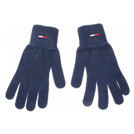 Tommy Jeans Rękawiczki Męskie Tjm Basic Flag Rib Gloves AM0AM05217 Granatowy Tommy Hilfiger