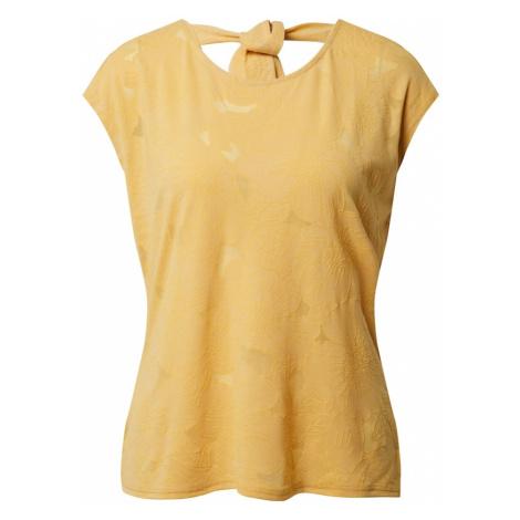 Dorothy Perkins Koszulka 'YELLOW PUFF PRINT TIE BACK TEE' żółty