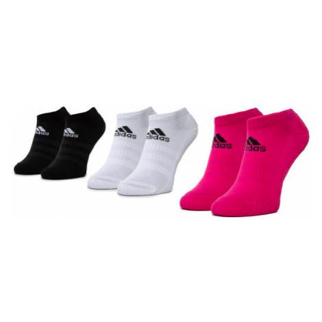 Adidas Zestaw 3 par niskich skarpet damskich Cush Low 3PP DZ9386 Biały