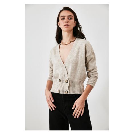 Trendyol Stone Button Knitwear Cardigan
