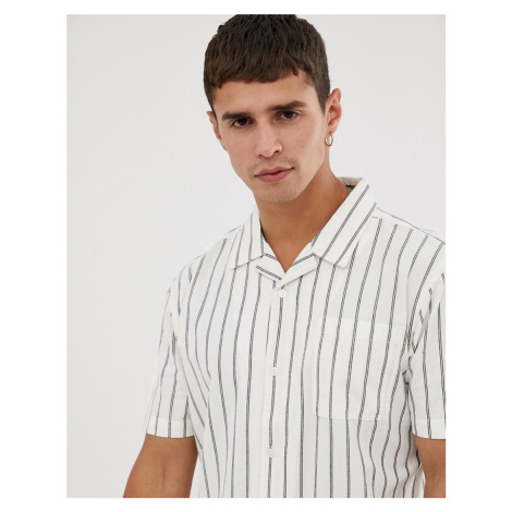 Bellfield regular fit shirt in white stripe