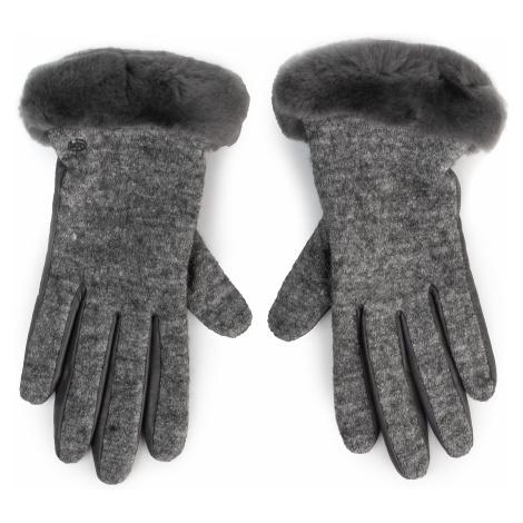 Rękawiczki Damskie UGG - W Fabric Lthr Shorty Glove 18813 Charcoal