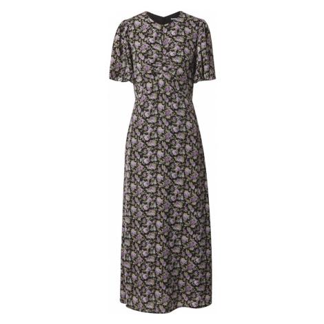 Fashion Union Sukienka 'SIENNA' czarny / fioletowy / oliwkowy