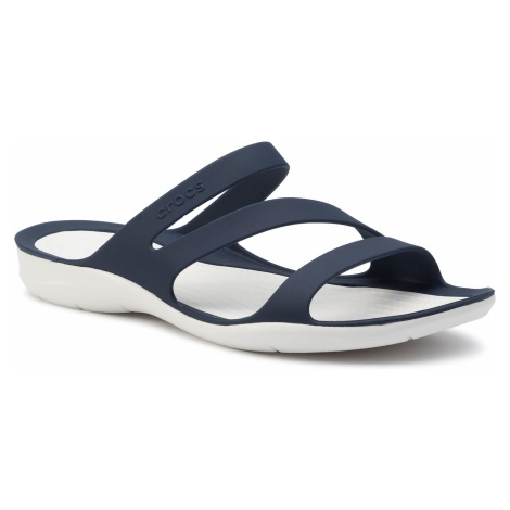 Klapki CROCS - Swiftwater Sandal W 203998 Navy/White