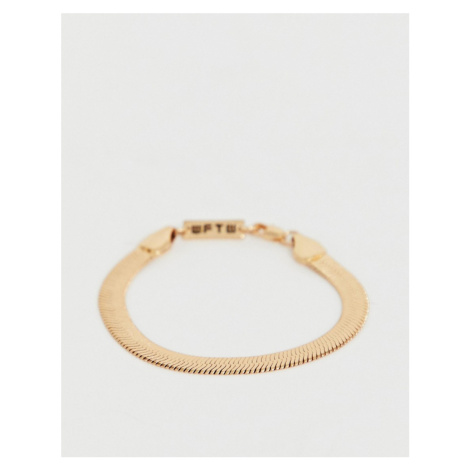 WFTW herringbone chain bracelet in gold