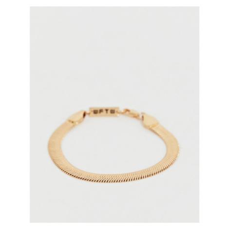 WFTW herringbone chain bracelet in gold