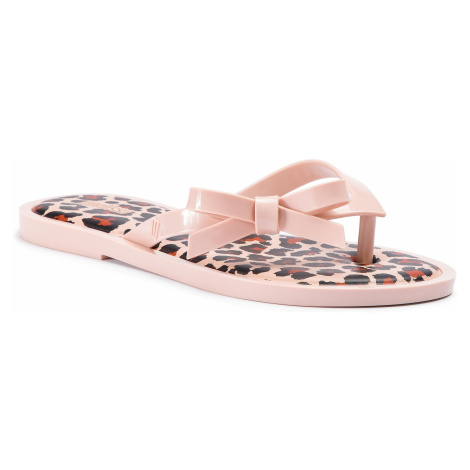 Japonki MELISSA - Flip Flop Animal Print 32651 Light Pink/Black 53478