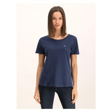 Tommy Jeans T-Shirt DW0DW06901 Granatowy Regular Fit Tommy Hilfiger