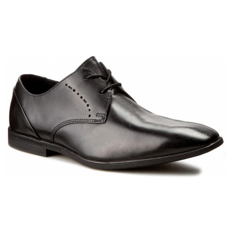 Półbuty CLARKS - Bampton Lace 261197957 Black Leather