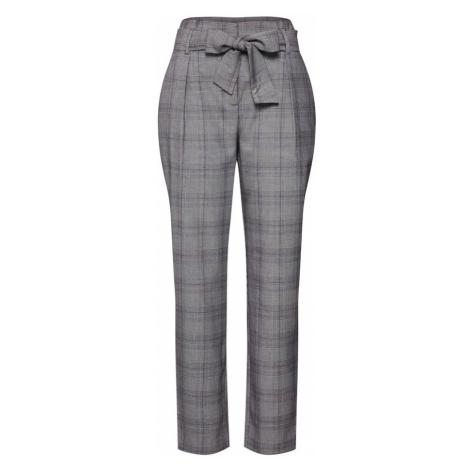 ONLY Spodnie 'onlMUST NICE HW PAPERBAG PANTS TLR' szary / biały