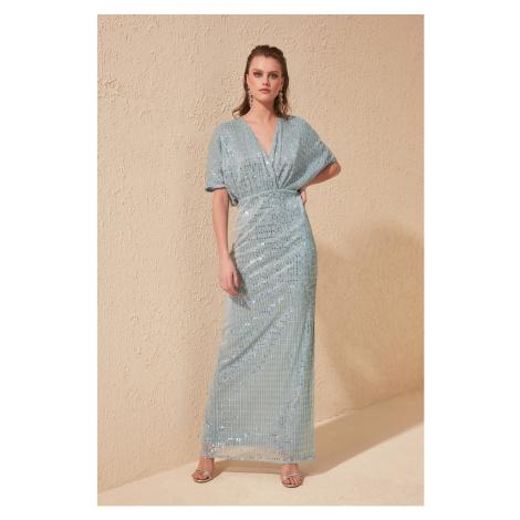 Trendyol Blue Sequins Detailed Dress