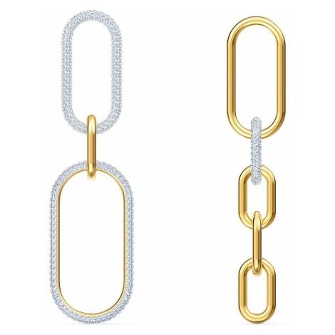 Kolczyki sztyftowe Time, białe, różnobarwne metale Swarovski