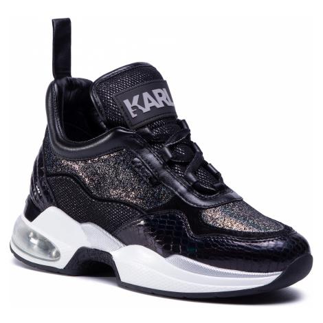 Sneakersy KARL LAGERFELD - KL61781 Black Glitter W/Silver
