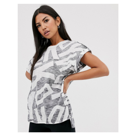 DKNY drop shoulder t-shirt with all over logo