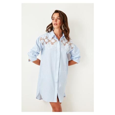 Trendyol Blue Embroidered Dress