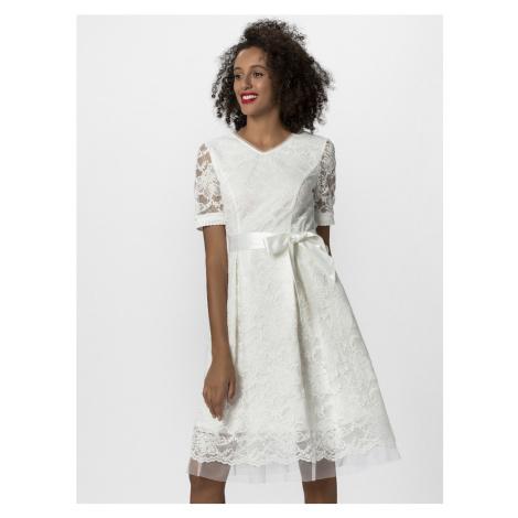 APART Suknia wieczorowa kremowy