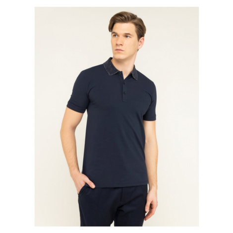 Hugo Polo Dinoso201 50421593 Granatowy Slim Fit Hugo Boss