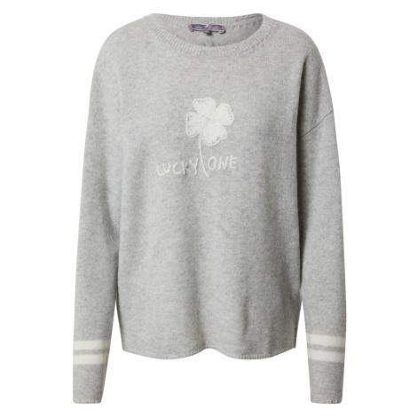 LIEBLINGSSTÜCK Sweter nakrapiany szary / biały