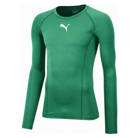 Puma LIGA BASELAYER TEE LS zielony XL - Koszulka termoaktywna męska