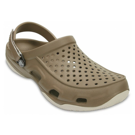 buty Crocs Swiftwater Deck Clog - Khaki/Stucco