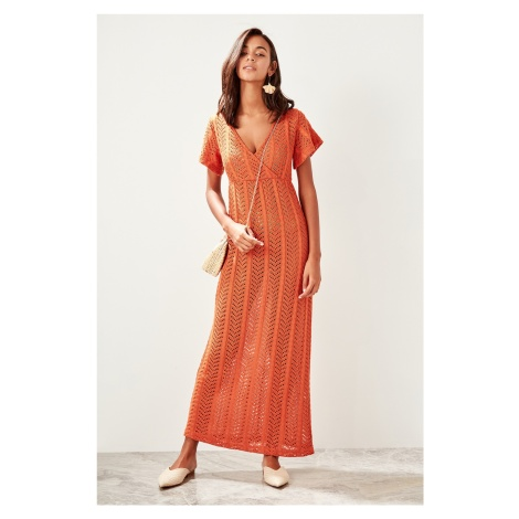 Trendyol Cinnamon Lace Knit Dress
