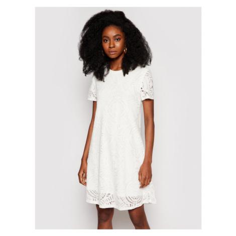 Desigual Sukienka letnia Nilo 21SWVKB1 Biały Regular Fit