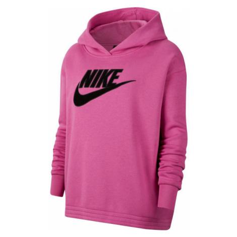 Nike NSW ICN CLSH FLC HOODIE PLUS W różowy 2x - Bluza damska plus size