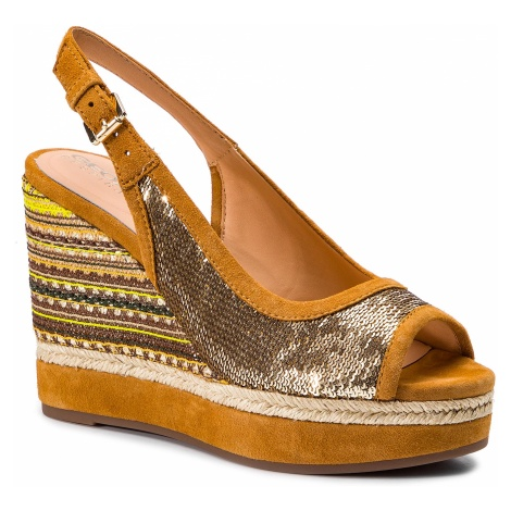 Espadryle GEOX - D Yulimar F D92CFF 0AT21 C2X2D Gold/Curry