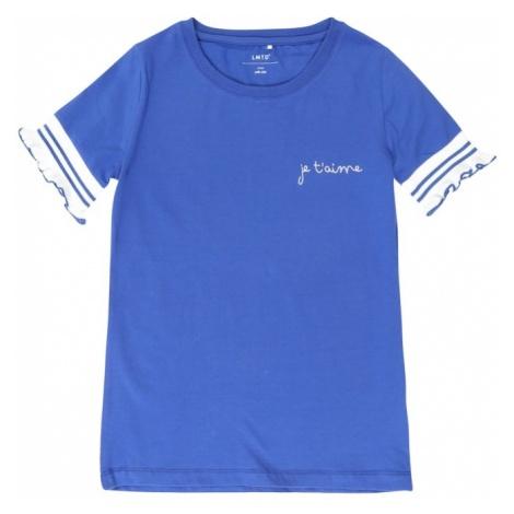 NAME IT Koszulka 'DEMI' niebieski / biały