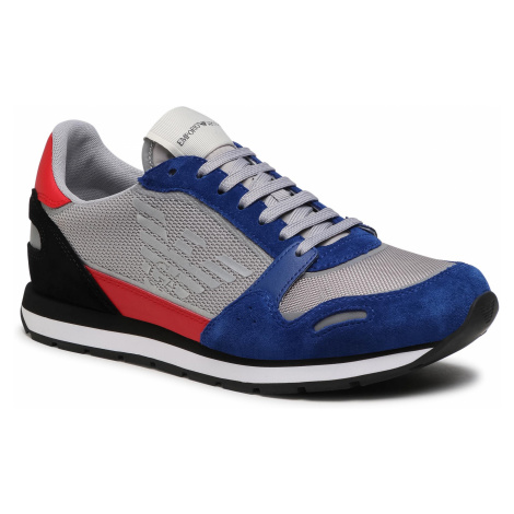 Sneakersy EMPORIO ARMANI - X4X537 XM678 N641 Bluet/Grey/Red/Blk