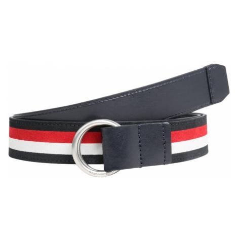 TOMMY HILFIGER Pasek 'URBAN O RING INTARSIA 3.5' niebieski / czerwony / biały