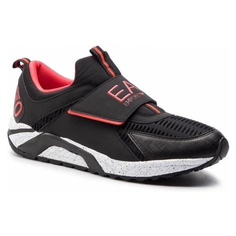 Sneakersy EA7 EMPORIO ARMANI - X8X035 XK062 A043 Black/Red
