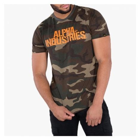 Koszulka męska Alpha Industries Blurred 186506 408