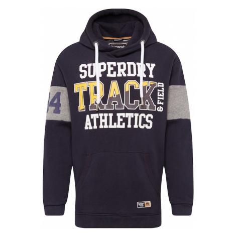 Superdry Bluzka sportowa 'SUPER TRACK OVERSIZED HOOD' granatowy / żółty / biały