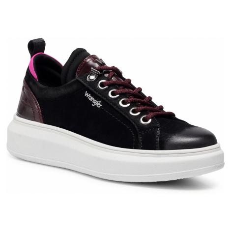 Sneakersy WRANGLER - Jolin Cocco WL02681A Black/Burgundy 338