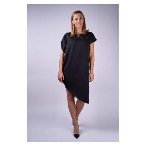 Simpo czarna asymetryczna sukienka Storm bez paska /M