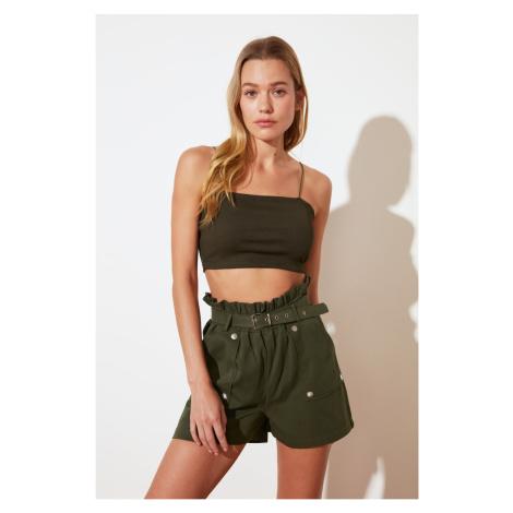 Trendyol Khaki Button Szczegółowe szorty & Bermudy