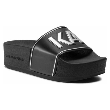 Klapki KARL LAGERFELD - KL80810 Black Rubber