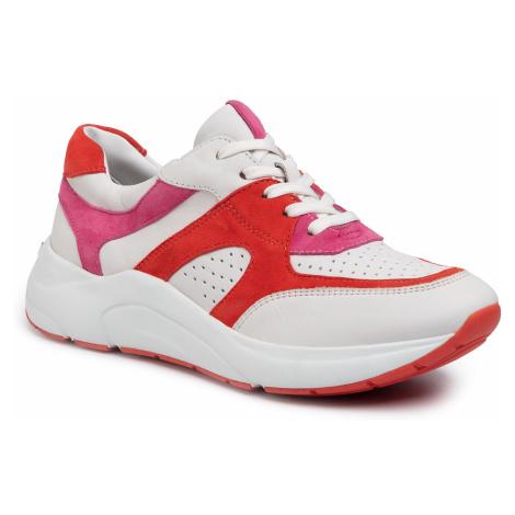 Sneakersy CAPRICE - 9-23501-24 White/Coral 152