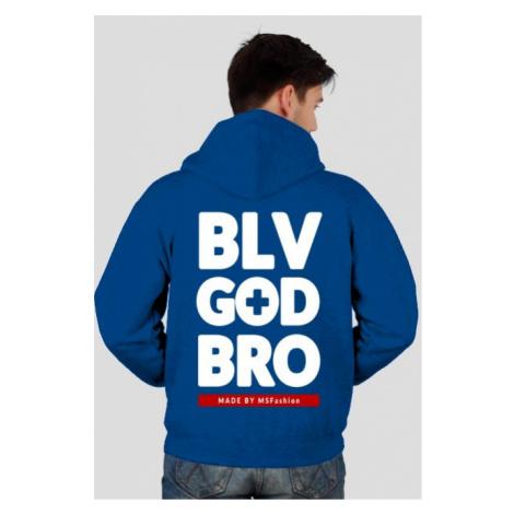 Bluza męska z kapturem, rozpinana belive god brother