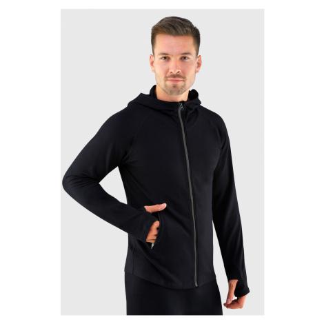 Czarna sportowa bambusowa bluza funkcyjna