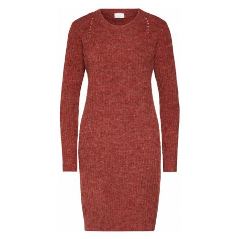 VILA Sukienka 'VILOWSA KNIT L/S DRESS' rdzawoczerwony