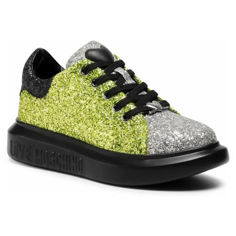Sneakersy LOVE MOSCHINO - JA15654G0BJ6100B Ne/Lime/Arga