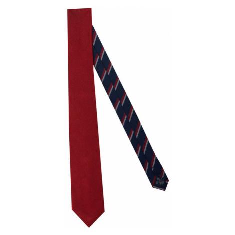 Tommy Hilfiger Tailored Krawat Solid Ribbed TT0TT07682 Czerwony