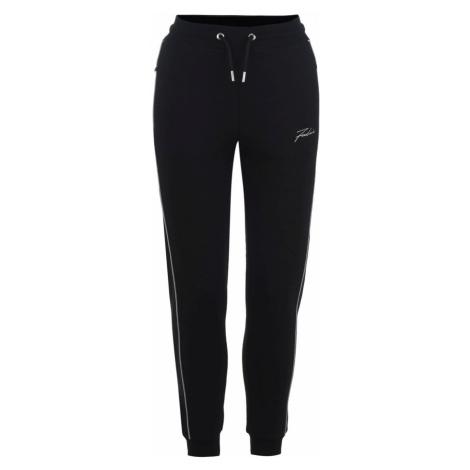 Fabric Slim Piped Jogging Pants Ladies