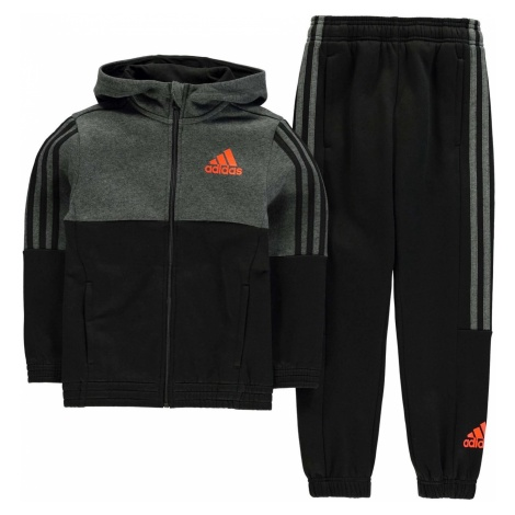 Adidas 3 Stripe  Jogger Suit Junior Boys
