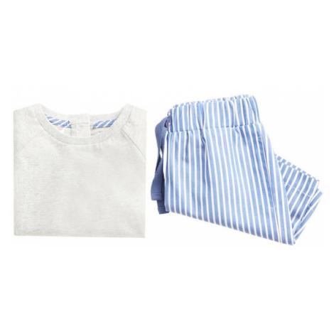 MANGO KIDS Piżama 'ALVARO' niebieski / biały
