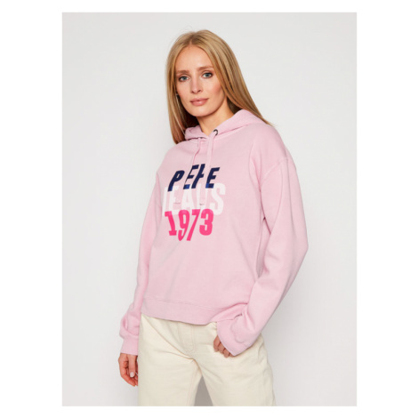 Pepe Jeans Bluza Babe PL580971 Różowy Regular Fit