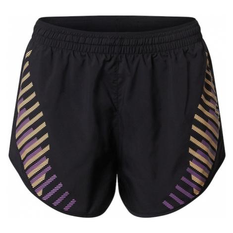 NIKE Spodnie sportowe 'Tempo Luxe' żółty / czarny / fioletowy