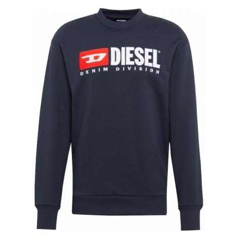 DIESEL Bluzka sportowa 'S-CREW-DIVISION' ciemny niebieski / czerwony / biały